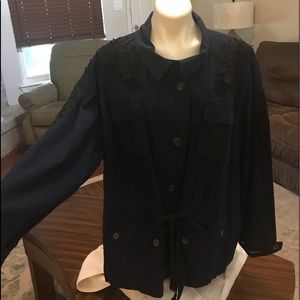 NWT Wendy Williams collection coat 3x navy